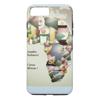 East West North South Central I Love Africa iPhone 8 Plus/7 Plus Case