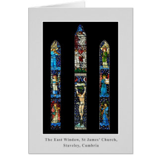 East Window, St James' Church, Staveley, Cumbria Greeting Card