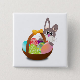Easter 15 Cm Square Badge