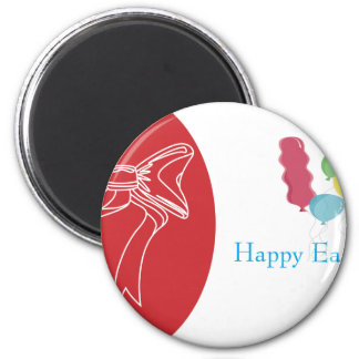 easter-3 6 cm round magnet