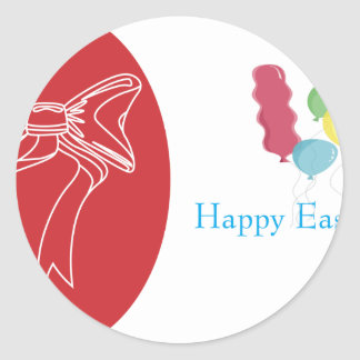 easter-3 round sticker