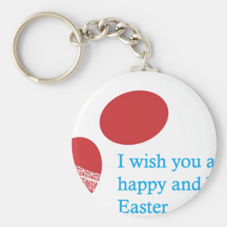 easter-4 basic round button key ring