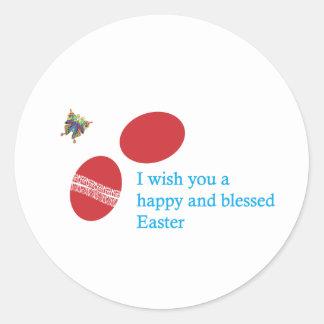 easter-4 round sticker