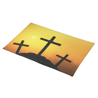 Easter and Palm Sunday Crosses and Scenes Place Mat