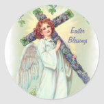 Easter Angel Round Stickers