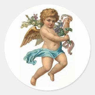 Easter Angel Vintage Easter Round Sticker
