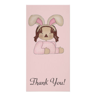 Easter Annie with Pink Blouse Customised Photo Card