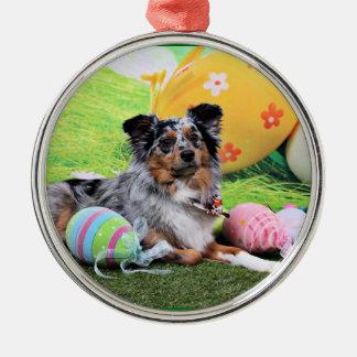 Easter - Australian Shepherd - Silas Barker Christmas Tree Ornaments