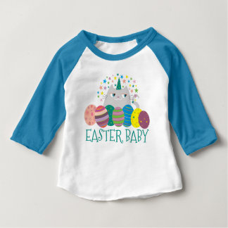 Easter Baby Cat Unicorn Caticorn Cute Funny Magic Baby T-Shirt