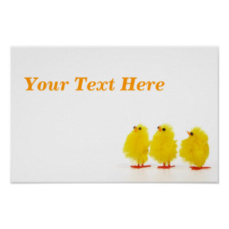 Easter baby chicks Poster