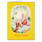 Easter ~ Baby's First Dressed in Bunny Costume Car Card