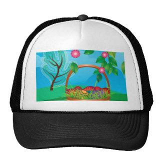 Easter Basket on Lawn Cap