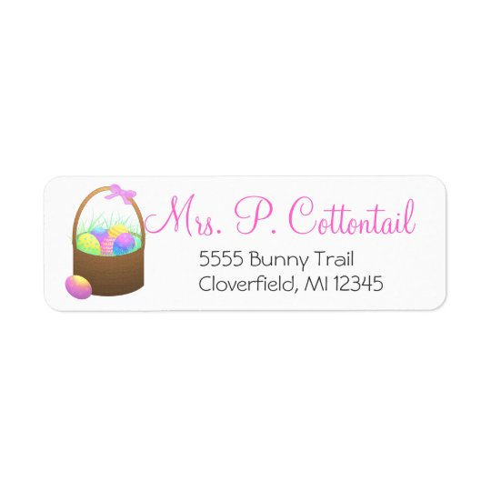 Easter Basket Return Address Labels