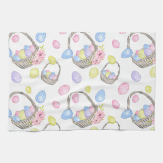 Easter Basket Tea Towel