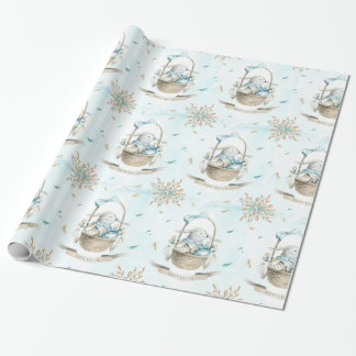 Easter basket wrapping paper zazzle easter basket with bunny flowers amp eggs wrapping paper negle Image collections