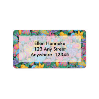 Easter Baskets and Eggs Address Label