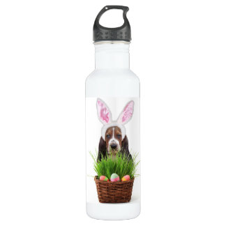 Easter Basset hound 710 Ml Water Bottle