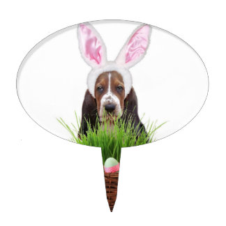 Easter Basset hound Cake Toppers