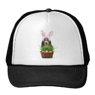 Easter Basset Hound dog Mesh Hats