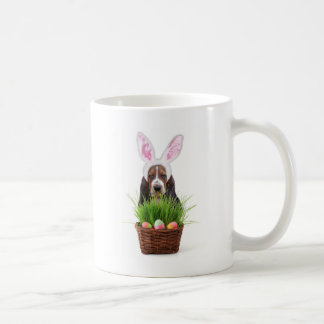 Easter Basset Hound dog Coffee Mugs