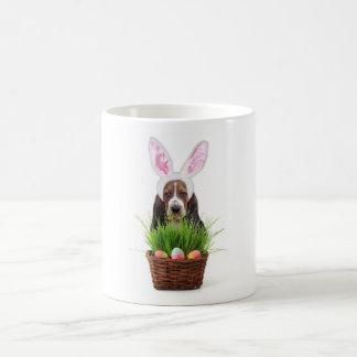 Easter Basset Hound dog Coffee Mug