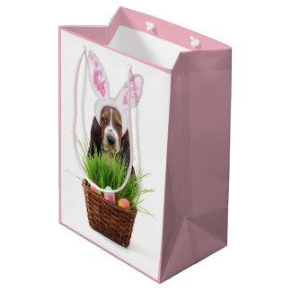 Easter Basset Hound  medium Gift Bag