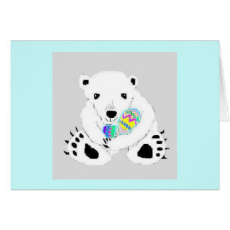 Easter Bear Greeting Card