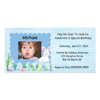 Easter Birthday Invitation Photo Cards