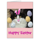 Easter Black & White Cat Card