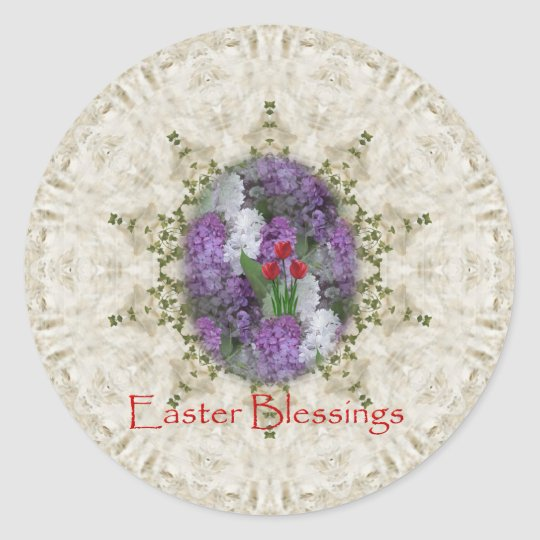 Easter Blessing Classic Round Sticker