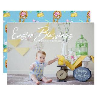 Easter Blessing Photo Card | White Script Overlay