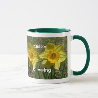 Easter Blessing-Two Yellow Daffodils Mug