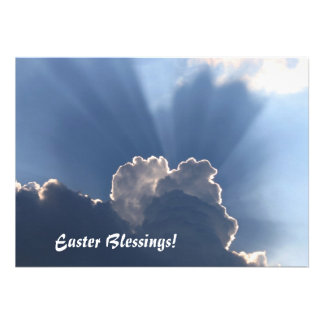 Easter blessings card announcement