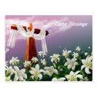 Easter Blessings. Custom Religious Postcards