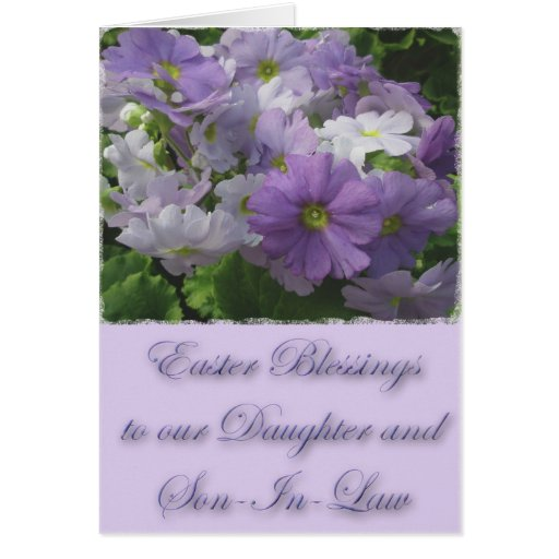 Easter Blessings Daughter & Son-In-Law Primrose Cards