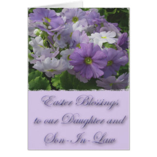 Easter Blessings Daughter & Son-In-Law Primrose Greeting Card