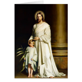 Easter Blessings Fine Art Customizable Easter Card
