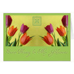 Easter Blessings For GodparentsTulips Greeting Cards