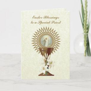 Easter Blessings Prayer Resurrection Priest Jesus Holiday Card