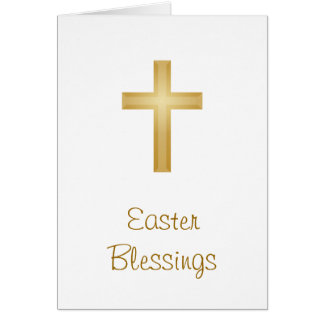 Easter cross greeting cards zazzle easter blessingsreligious card negle Gallery