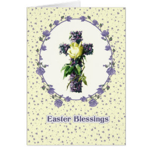Christian easter cards invitations zazzle easter blessings religious easter greeting cards m4hsunfo