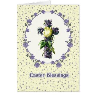 Easter Blessings. Religious Easter Greeting Cards