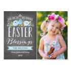 Easter Blessings Rose Banner Chalkboard | Easter Postcard