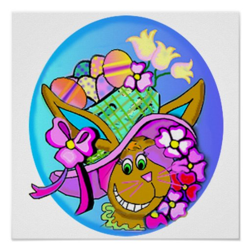 Easter Bonnet Art Poster