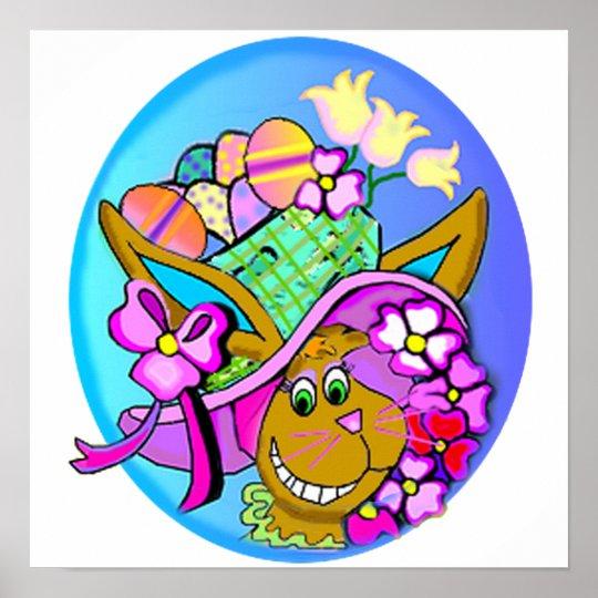 Easter Bonnet Art Poster