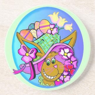 Easter Bonnet Beverage Coaster