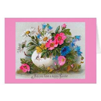 Easter Bouquet Vintage Flowers Greeting Card