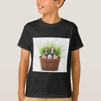 Easter boxer puppies t-shirt