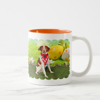 Easter - Brittany Spaniel - Elliott Coffee Mugs
