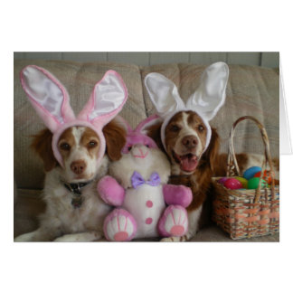 EASTER BRITTANYS GREETING CARD